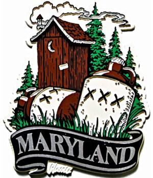 Maryland Hillbilly banner magnet