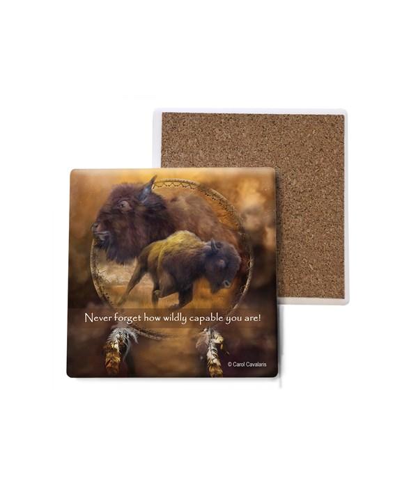 Buffalo  Brown Buffalo Shield Bulk Coaster
