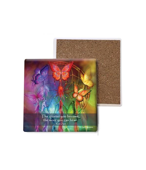 Butterfly  Rainbow Dreams  colorful  Bulk Coaster