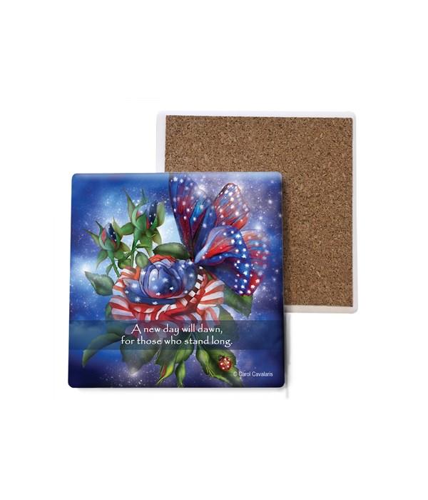 Butterfly  Star Spangled Butterfly  patriotic  Bulk Coaster