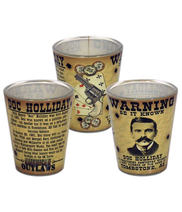 Doc Holliday Shotglass 12PC