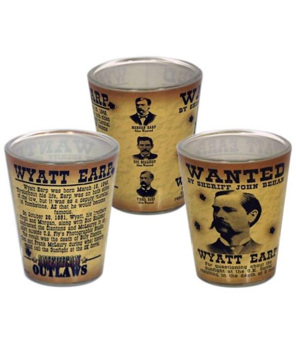 Wyatt Earp Shotglass 12PC