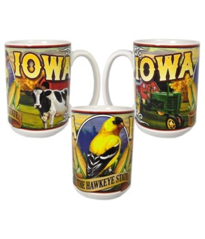 Iowa Mug Ceramic Grande Mural 15oz