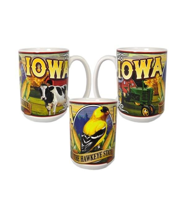 Iowa Mug Ceramic Grande Mural 15oz