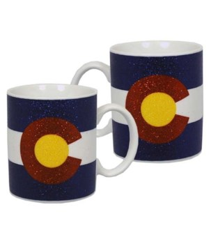 CO Mug Ceramic Glitter State Flag