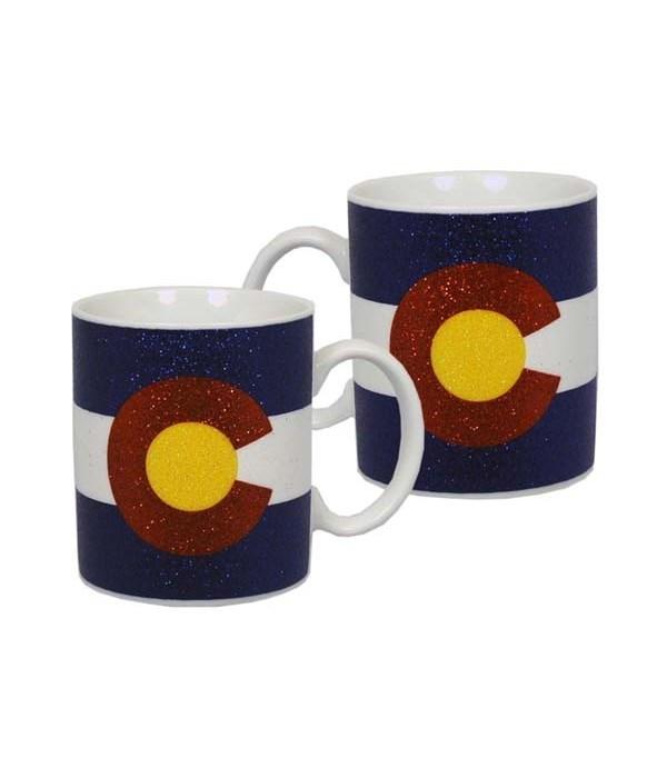 CO Mug Ceramic Glitter State Flag