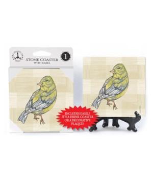 Yellow Finch (Plaid Bkgrd)