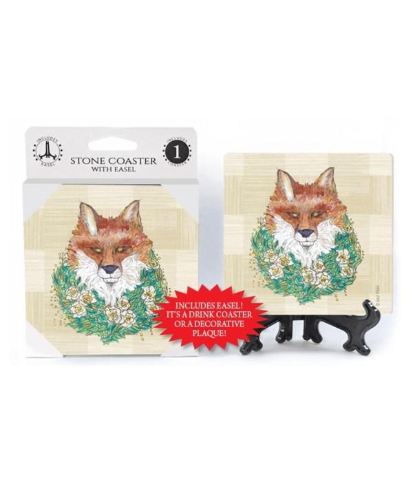 Fox with wreath