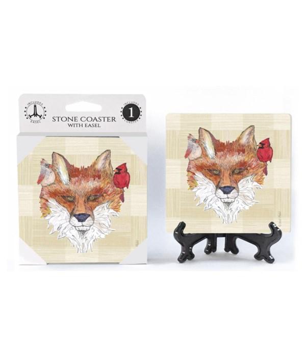 Fox with cardinals Coaster