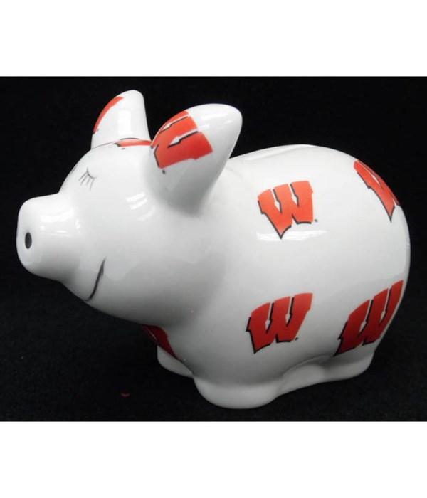 U-WI Piggy Bank Logo All Over