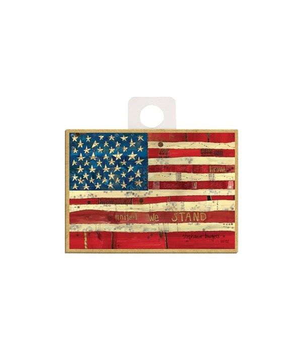 American flag - United we stand Magnet