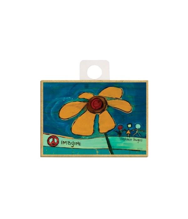 Imagine (flower) Magnet