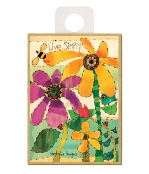 Live Simply (flowers, bee, bird & ladybu