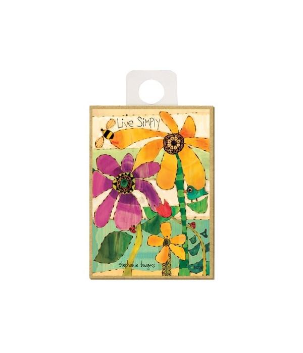 Live Simply (flowers, bee, bird & ladybu