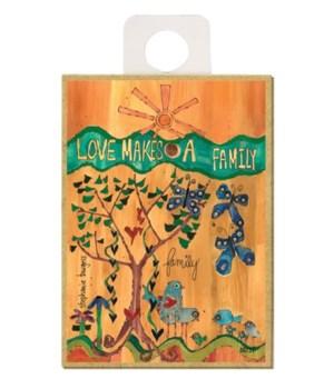 Love makes a family (sun, 6 birds, 3 blu