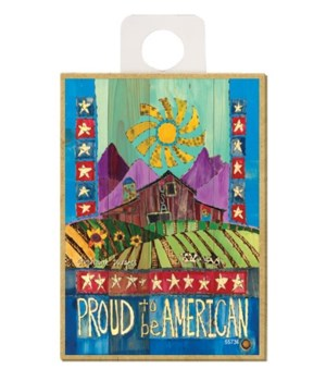 Proud to be American (barn, cows, hills