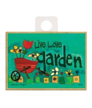 Live Love Garden Magnet