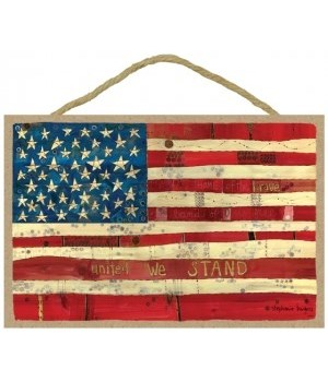 American flag - United we stand 7 x 10.5