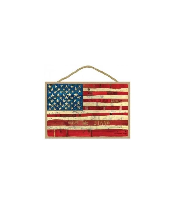 American flag - United we stand 7 x 10.5