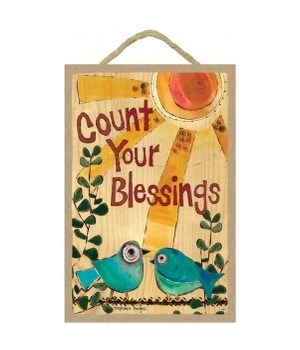 Count your blessings 7 x 10.5 sign