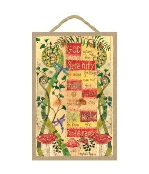 Serenity Prayer -  7 x 10.5 sign
