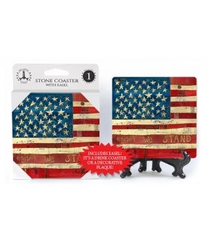 American flag - United we stand coaster
