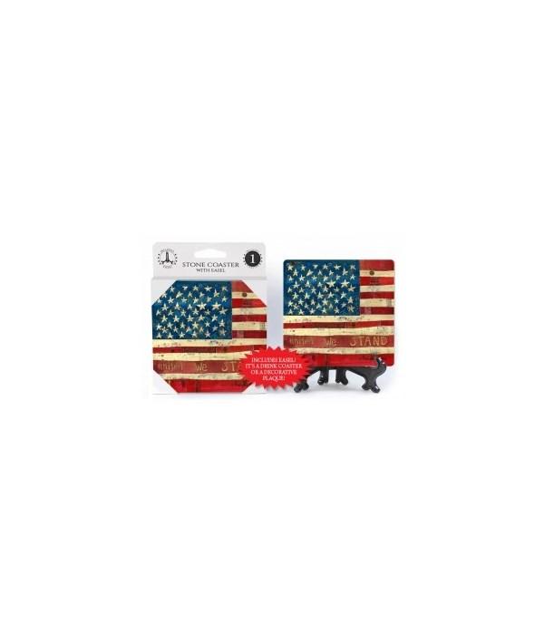 American flag - United we stand coaster