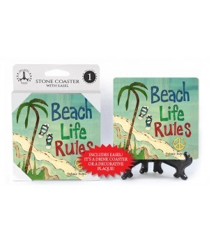 Beach life rules coaster