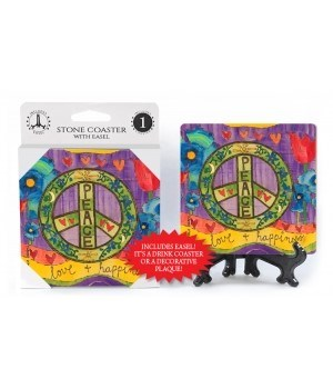 Peace - love & happiness  coaster
