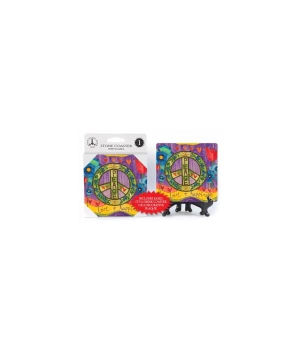Peace - love & happiness  coaster