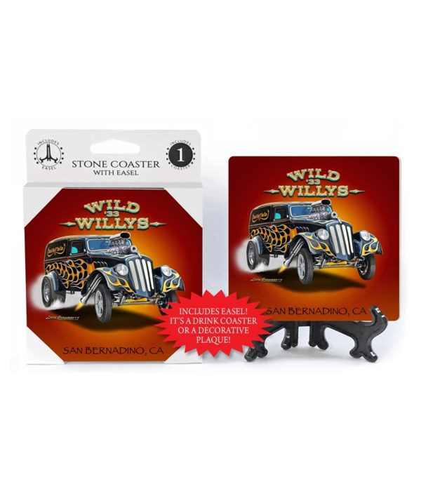 Wild '33 Willys (black hot with flames a