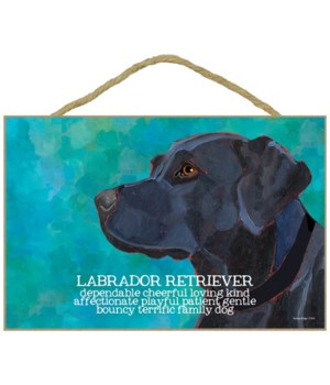 Black Labrador Retriever 7x10 Ursula Dod