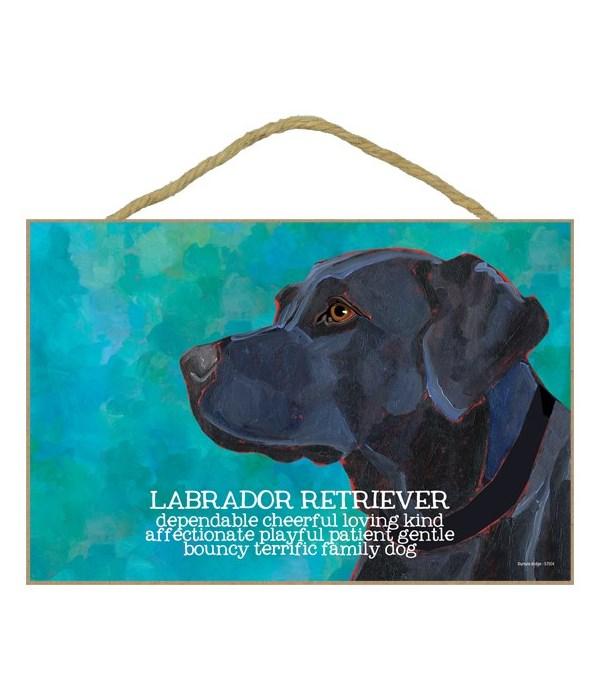 Black Labrador Retriever 7x10 Ursula Dod