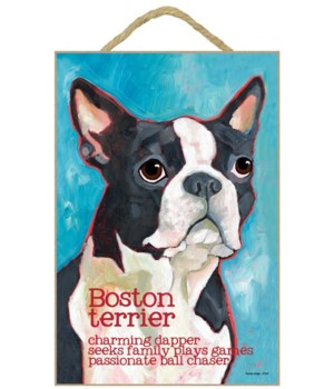 Boston Terrier 7x10 Ursula Dodge