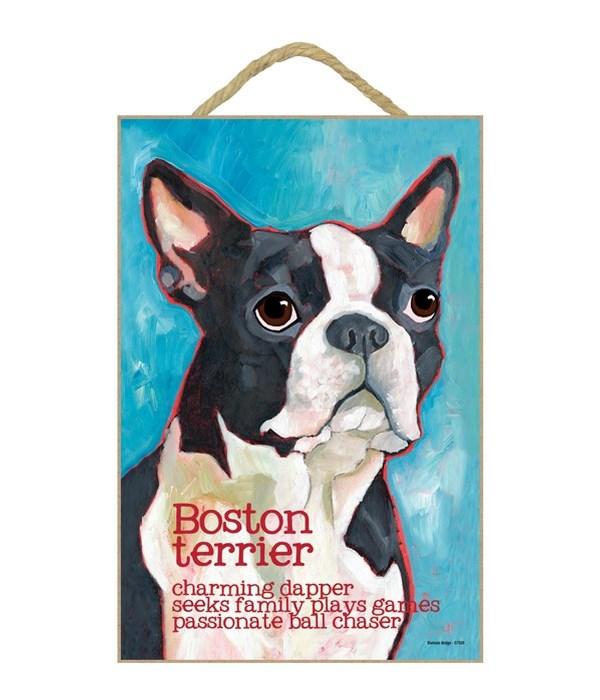 Boston Terrier 7x10 Ursula Dodge