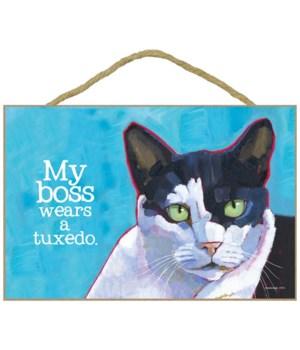 Cat - My boss wears a tuxedo 7x10 Ursula