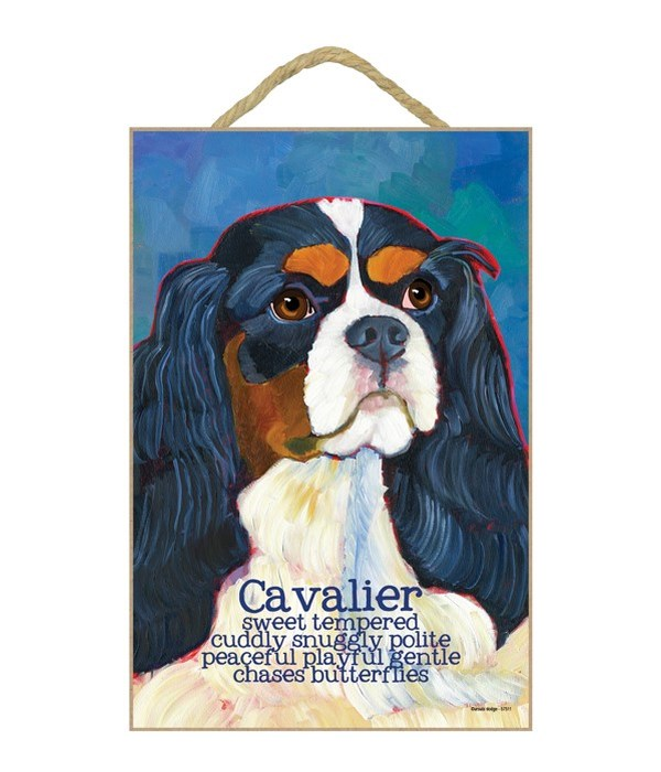 Cavalier (black & white) 7x10 Ursula Dod