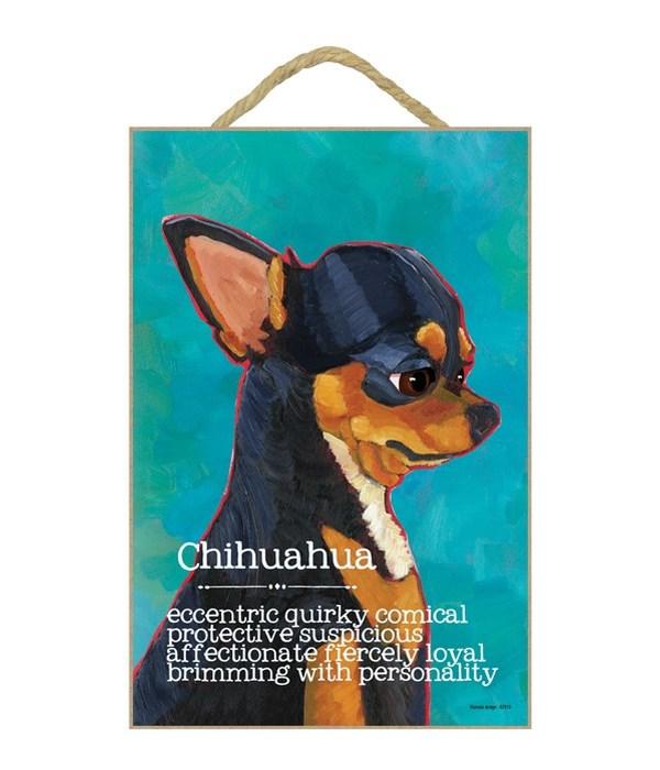 Chihuahua (black) 7x10 Ursula Dodge