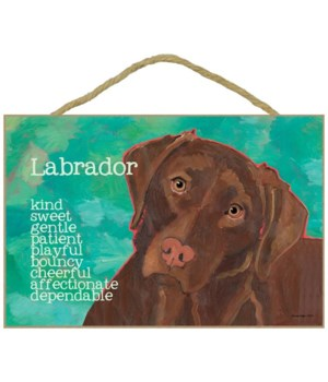 Chocolate Labrador Retriever 7x10 Ursula