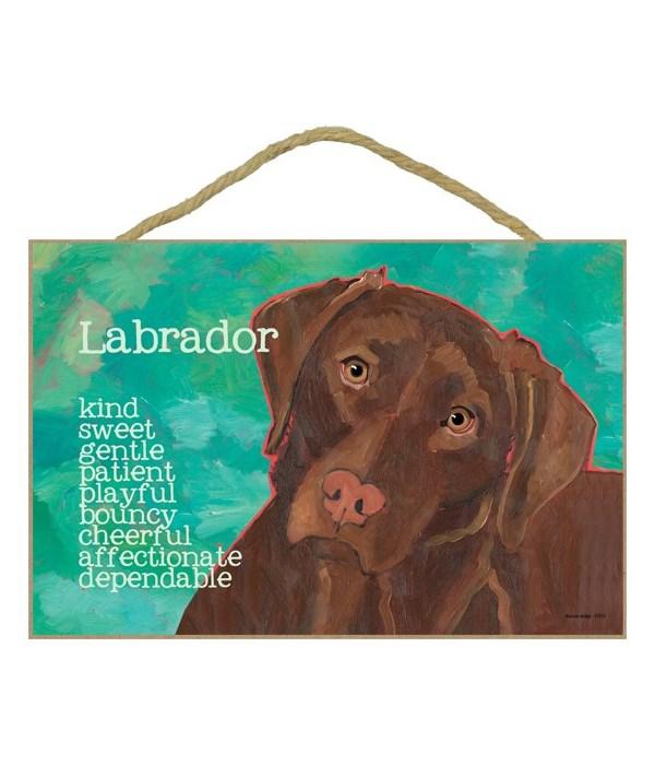 Chocolate Labrador Retriever 7x10 Ursula