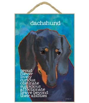 Dachshund (black) 7x10 Ursula Dodge