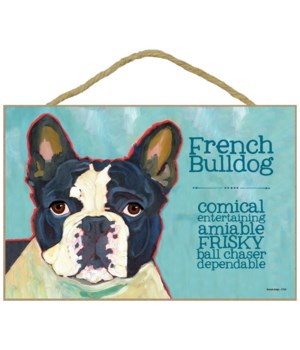 French Bulldog (black and white) 7x10 Ur