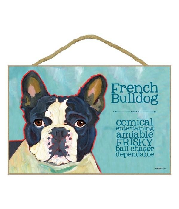 French Bulldog (black and white) 7x10 Ur