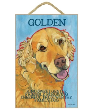 Golden (blue bkgd) 7x10 Ursula Dodge