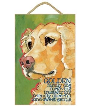 Golden (green bkgd) 7x10 Ursula Dodge