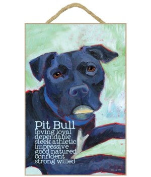 Pitbull (black) 7x10 Ursula Dodge