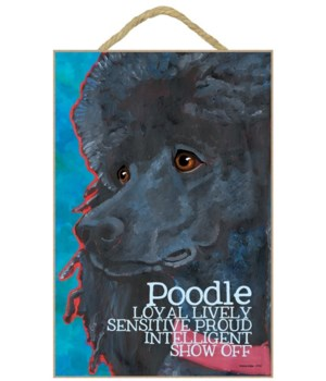 Poodle (black) 7x10 Ursula Dodge