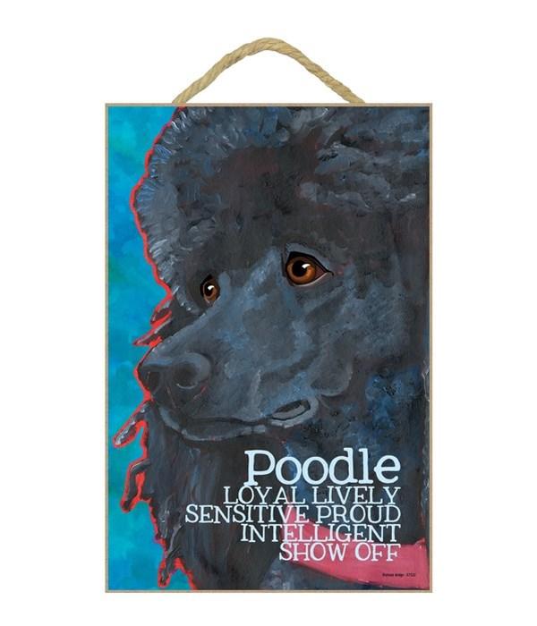 Poodle (black) 7x10 Ursula Dodge