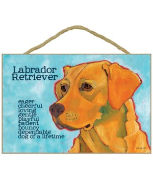 Yellow Labrador Retriever 7x10 Ursula Do