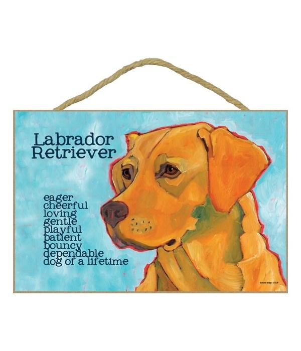 Yellow Labrador Retriever 7x10 Ursula Do